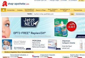 Ansicht der Internetseite shop-apotheke.com