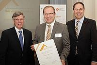 Einer der ersten Ausgezeichneten: der Dipl.-Ing. Detlef Börner, Geschäftsführer der Börner GmbH. Foto: Quelle: BMFSFJ / C. Junghanns