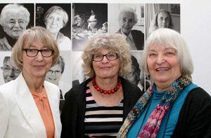 Setzen sich für ein modernes Frauenbild ein: Gudrun Cyprian, Mechthild Engel, Betrun Jeitner-Hartmann Museumkuratorin, v. l.