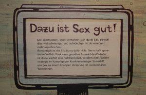 """Plakat zur Sonderschau """"Sex und Evolution"""" in Münster. Foto: epd"""