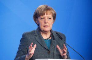 Angela Merkel bgesucht den Seniorentag. Fofo: epd