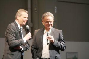 Oberbürgermeister Ulrich Maly und Moderator Werner Buchberger  (l.)  sprachen über ihre Vorstellungen vom Alter. Foto: Petra Nossek-Bock