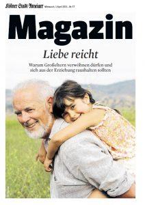 Unsere Enkelbloggerin Ingrid Mielenz erzählt im Magazin des Kölner Stadtanzeiger über ihre Enkel. Foto. 66