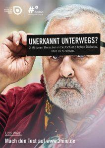Udo Walz konnte als prominentes Gesicht für die Kampage zur Diabetes-Früherkennung gewonnen werden. Foto: PR